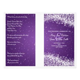 Wedding Program Sparkling Wave Purple