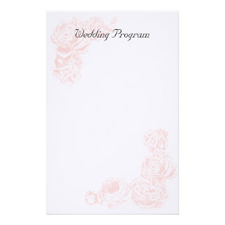 Wedding Program Stationery