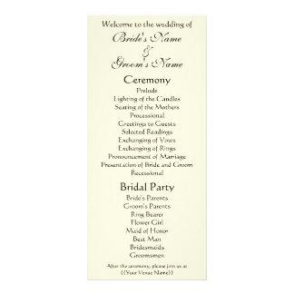 Wedding Program; The Kiss by Gustav Klimt Full Color Rack Card