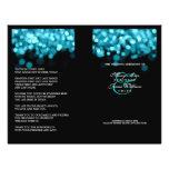 """Wedding Program Turquoise Lights 8.5"""" X 11"""" Flyer"""