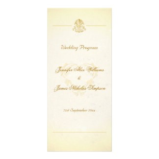 Wedding Program Vintage Parchment Paper Style