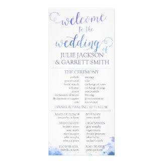 Wedding Program - Watercolor World Wedding Program