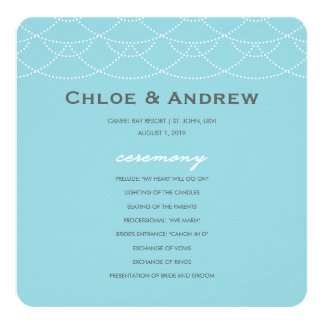 Wedding Program | Waves