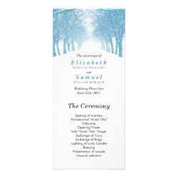 Wedding Program Winter Trees Avenue Path Rack Cards