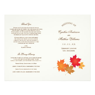 Wedding Programs | Autumn Leaves Flyer