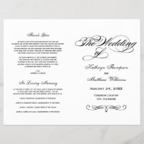 Wedding Programs | Black and White Calligraphy