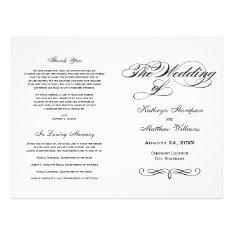 Wedding Programs   Black and White Calligraphy at Zazzle