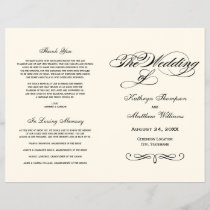 Wedding Programs | Black Calligraphy Design