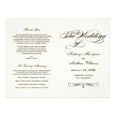 Wedding Programs | Black Calligraphy Design at Zazzle