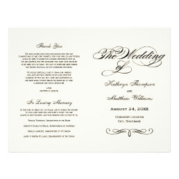 Wedding Programs | Black Calligraphy Design