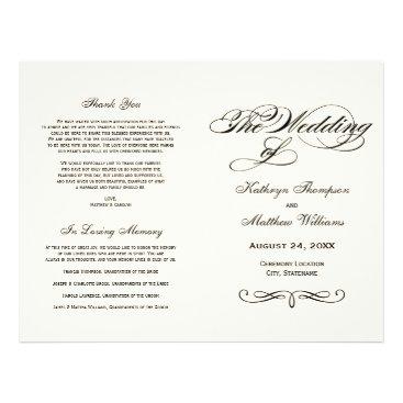 Plush_Paper Wedding Programs | Black Calligraphy Design
