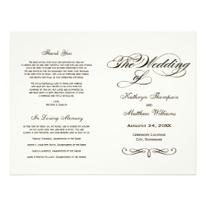 Wedding Programs | Black Calligraphy Design Flyer Design