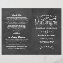 Wedding Programs | Chalkboard Charm