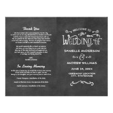 Wedding Programs | Chalkboard Charm at Zazzle
