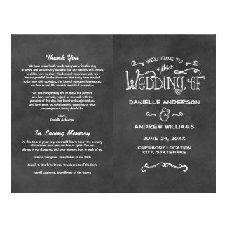 "Wedding Programs | Chalkboard Charm 8.5"" X 11"" Flyer"