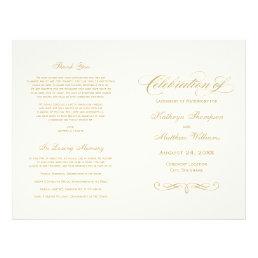 Wedding Programs | Gold Calligraphy Design