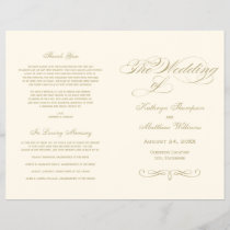 Wedding Programs | Gold Calligraphy Design