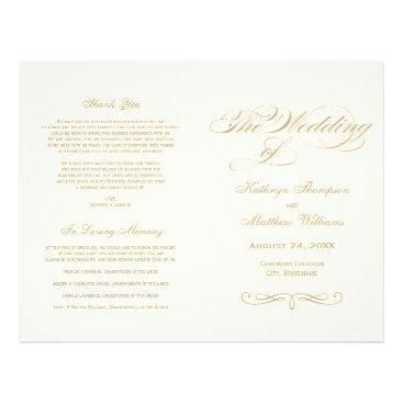 Plush_Paper Wedding Programs | Gold Calligraphy Design