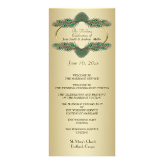 Wedding Programs - Gold Rack Card Template