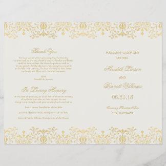 Wedding Programs   Gold Vintage Glamour
