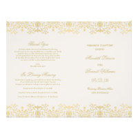 Wedding Programs | Gold Vintage Glamour