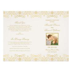 Wedding Programs | Gold Vintage Glamour at Zazzle