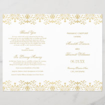 Wedding Programs | Gold Vintage Glamour
