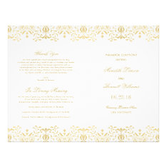 Wedding Programs | Gold Vintage Glamour at Zazzle