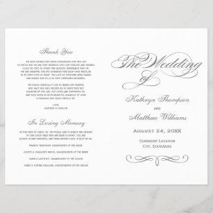 wedding programs zazzle