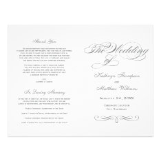 Wedding Programs | Gray Calligraphy Design at Zazzle