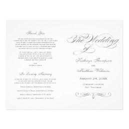 Wedding Programs | Gray Calligraphy Design