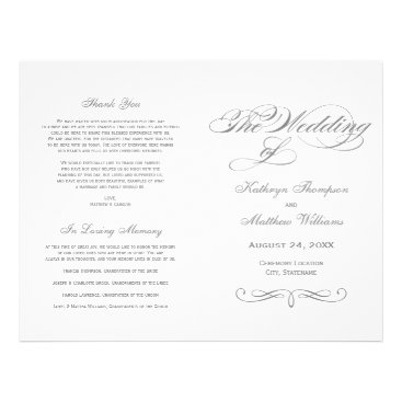 Plush_Paper Wedding Programs | Gray Calligraphy Design