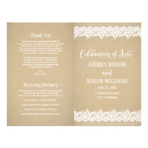 Wedding Programs | Lace and Kraft