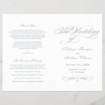 Wedding Programs | Light Gray Calligraphy Design