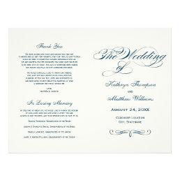 Wedding Programs | Navy Blue Calligraphy Design