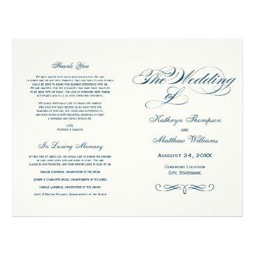 Plush_Paper Wedding Programs | Navy Blue Calligraphy Design