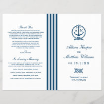 Wedding Programs | Navy Nautical Design