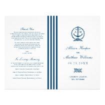 Wedding Programs | Navy Nautical Design