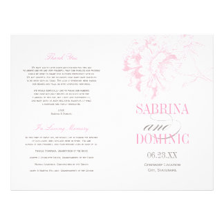 Wedding Programs | Pink Peony Floral