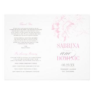 "Wedding Programs | Pink Peony Floral 8.5"" X 11"" Flyer"