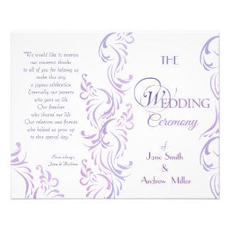 Wedding programs - Purple & white