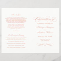 Wedding Programs | Rose Gold Calligraphy Design
