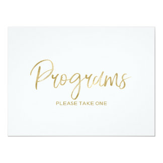 "Wedding ""Programs"" Sign 