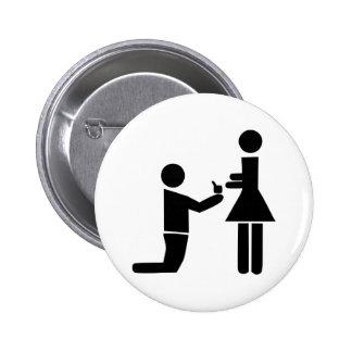 Wedding Proposal 2 Inch Round Button