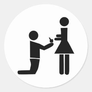 Wedding Proposal Classic Round Sticker