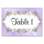 Wedding Purple Frame Table Cards
