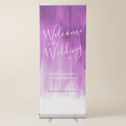 Wedding purple mauve modern art welcome banner