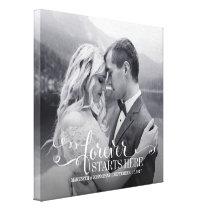 Wedding Quote Custom Photo Canvas Print