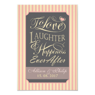 Wedding quote design, with custom letters. card
