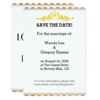 Wedding Quote Save The Date Invitation